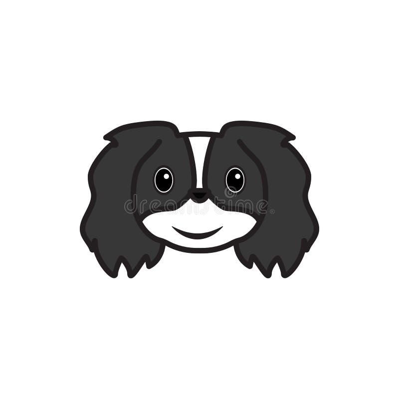 Pekingese, emoji, немножко значок стороны улыбки пестротканый Знаки и значок символов можно использовать для сети, логотипа, моби бесплатная иллюстрация