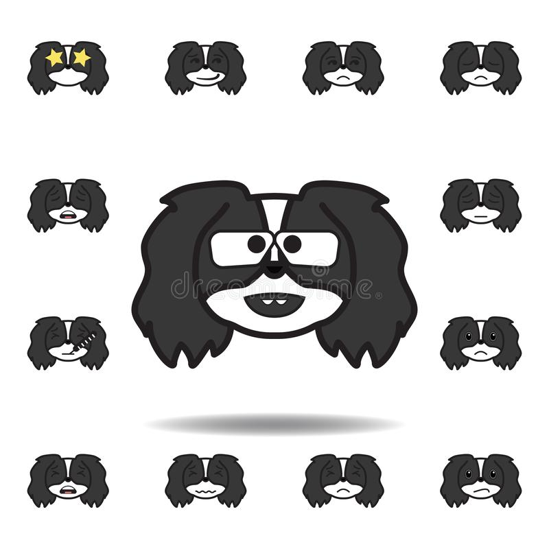 Pekingese emoji botanist multicolored icon. Set of pekingese emoji illustration icons. Signs, symbols can be used for web, logo,. Mobile app, UI, UX on white vector illustration