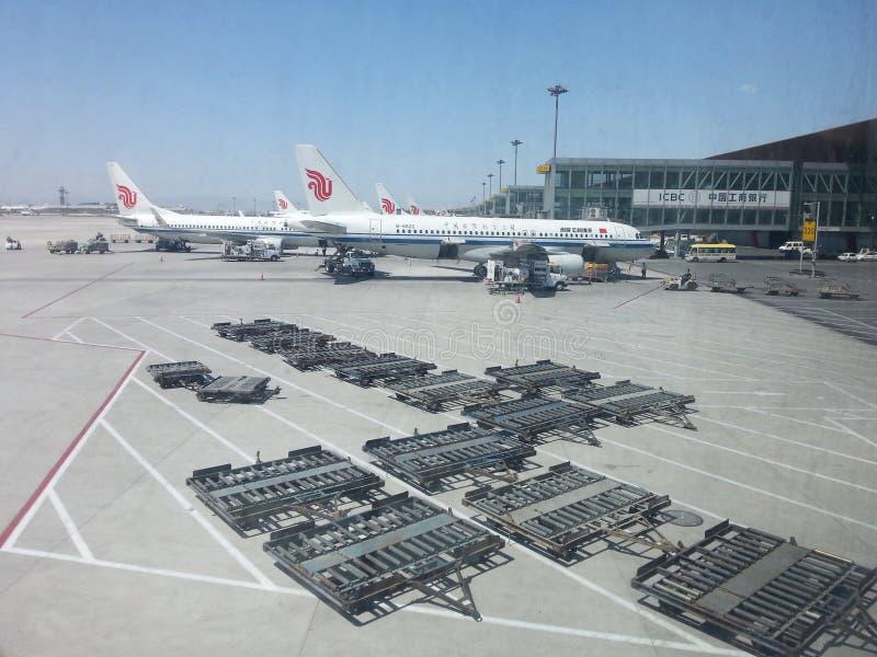 Pekinghuvudinternationell flygplats arkivfoton