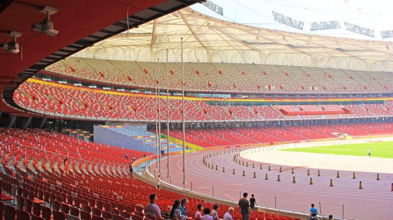 Pekingmedborgare Olympic Stadium/rede för fågel s royaltyfria foton