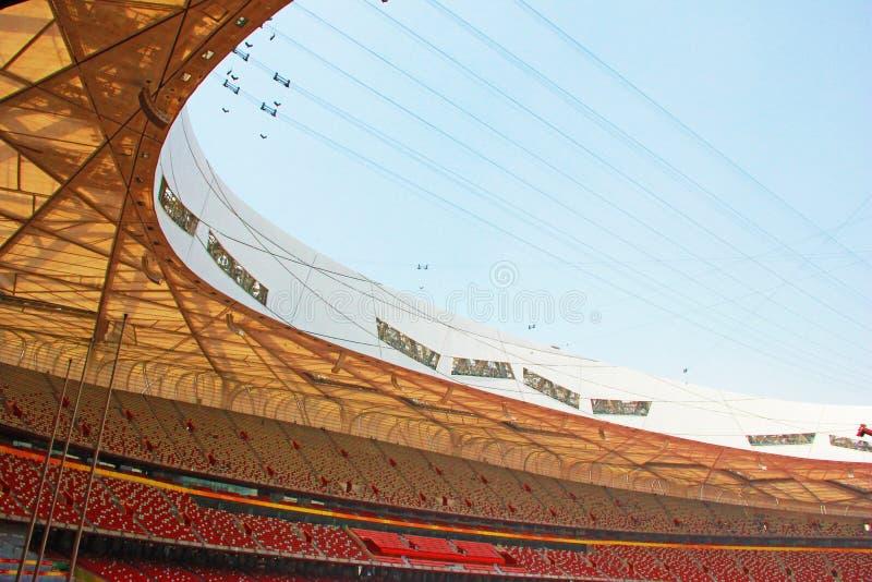 Pekingmedborgare Olympic Stadium/rede för fågel s arkivbilder