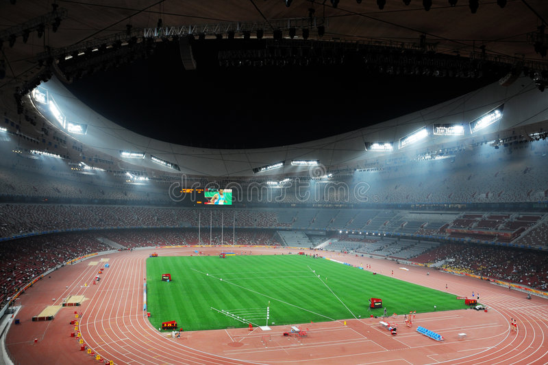 Pekingolympics statium stockfotografie