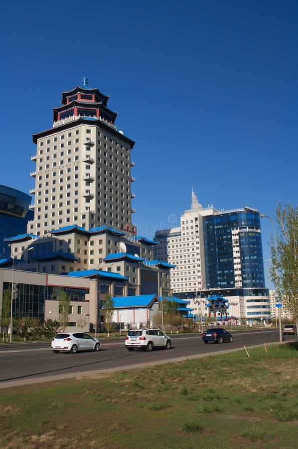 PekingslottSoluxe hotell Astana arkivbild
