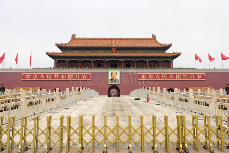 PekingTiananmen fyrkant i Kina arkivfoton