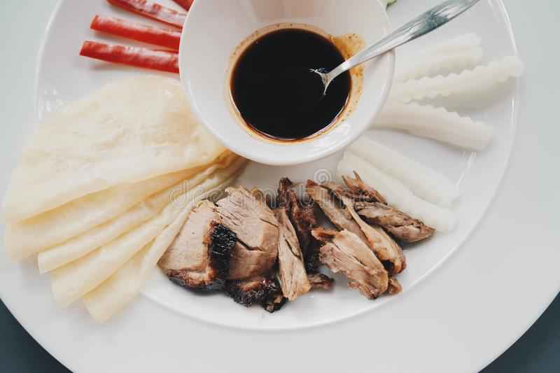Pekking duck taiwan food royalty free stock images