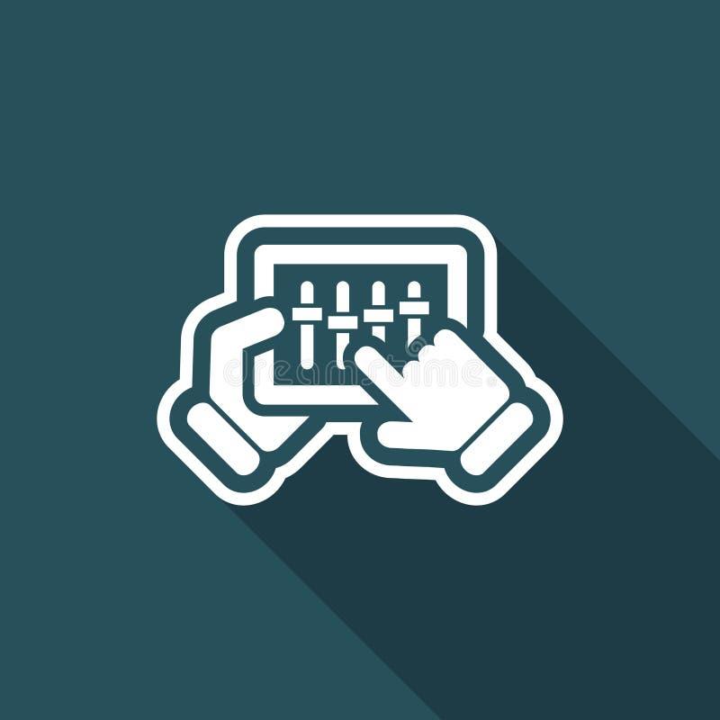 Pekskärmblandaresymbol stock illustrationer