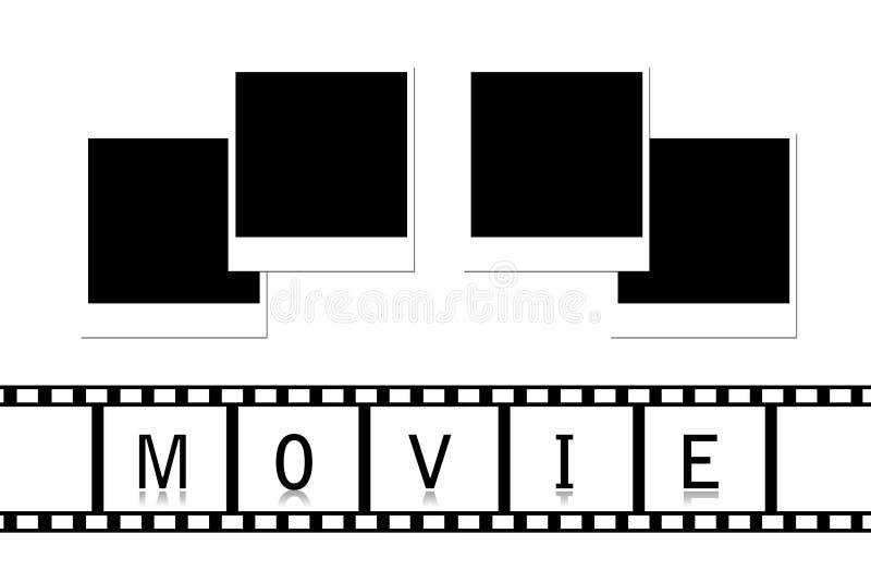 Película & fotos ilustração do vetor