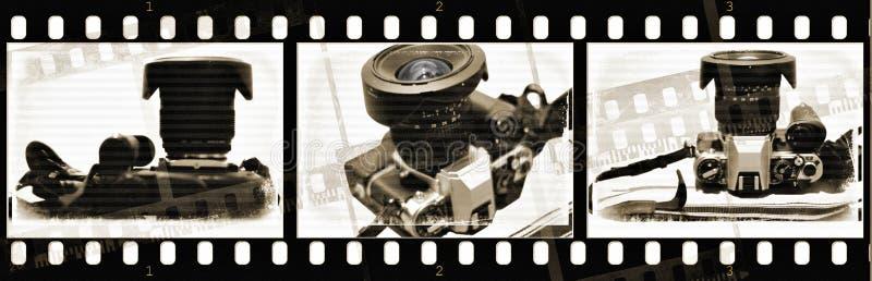 Película com a câmera velha com texturas imagens de stock royalty free