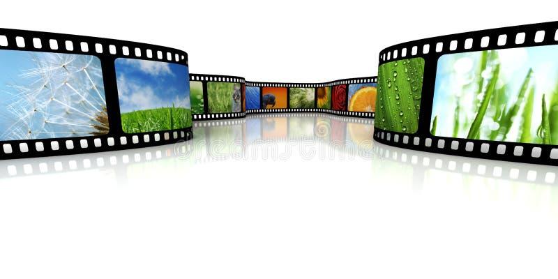 Película com imagens ilustração do vetor