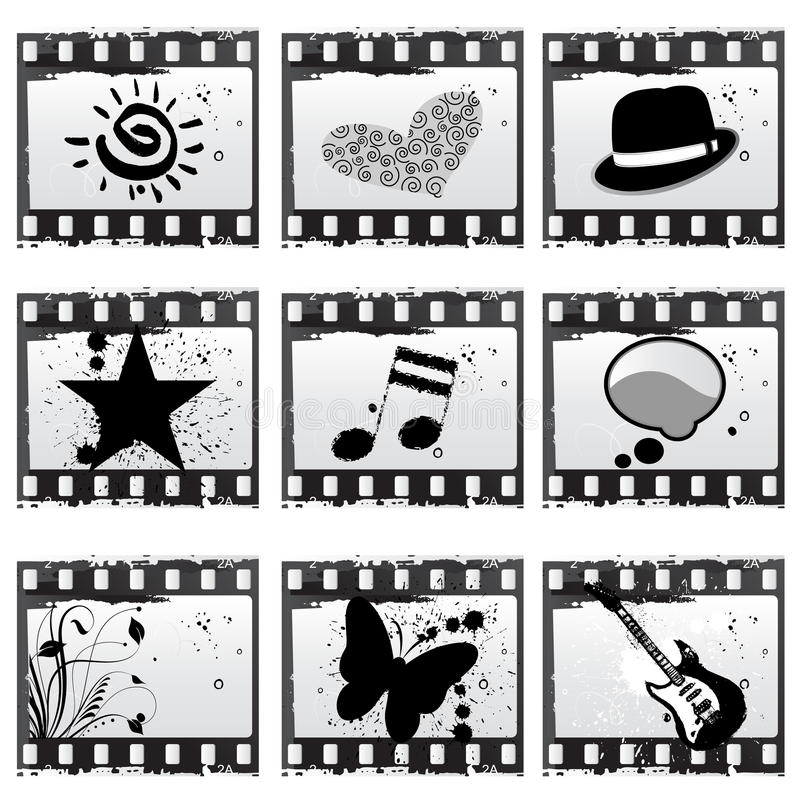 Película com símbolos ilustração do vetor