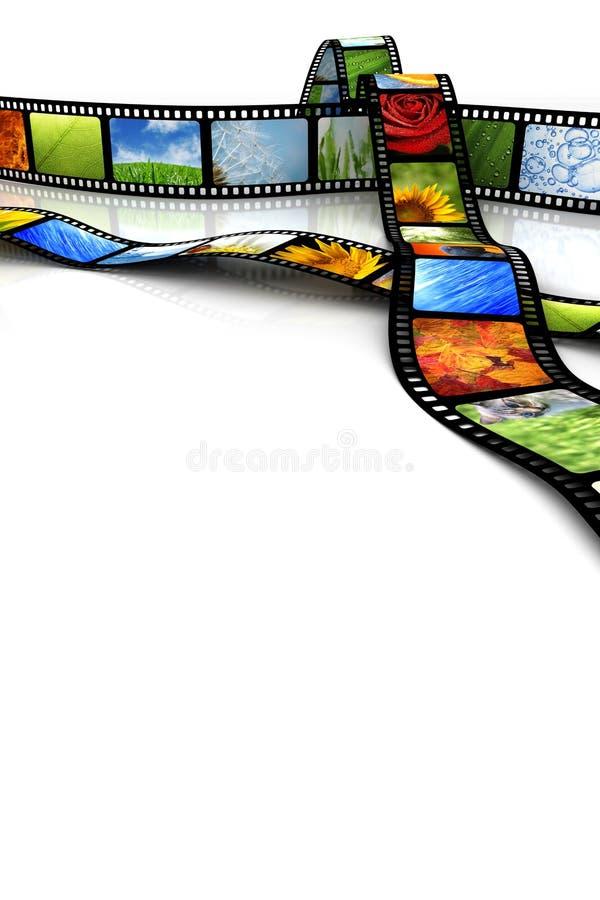 Película con imágenes ilustración del vector
