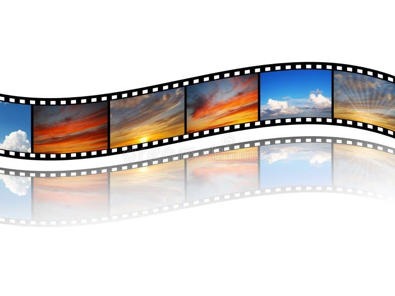 Película con imágenes del cielo stock de ilustración