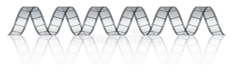 Película da foto do filme do vetor ilustração stock