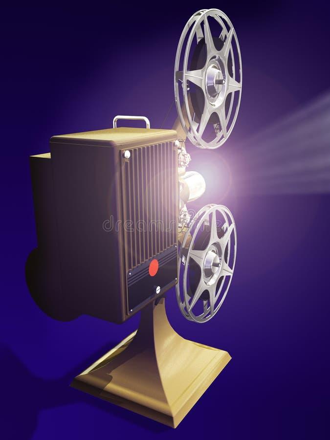 Película da mostra do projetor de película ilustração do vetor