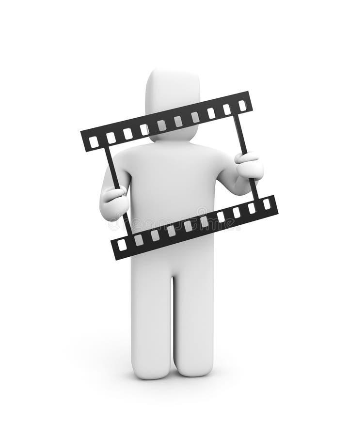 Película da preensão 35mm do homem ilustração royalty free