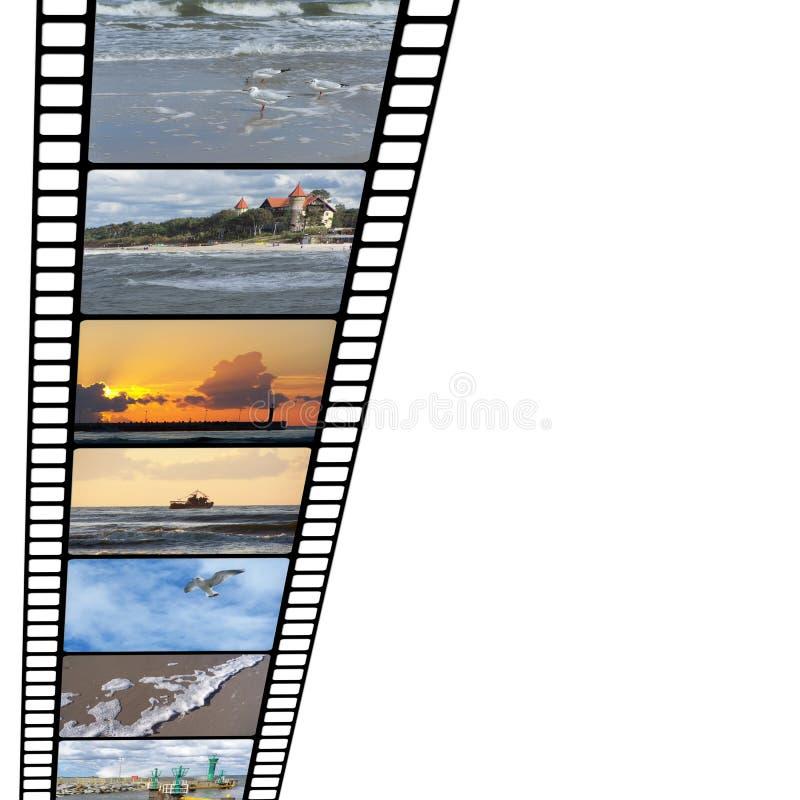 Película das férias ilustração stock