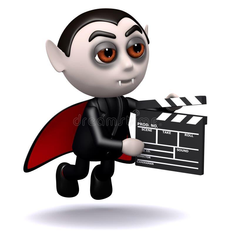 película de 3d Drácula stock de ilustración