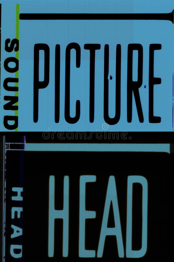 película de um movimento de 35 milímetros fotografia de stock
