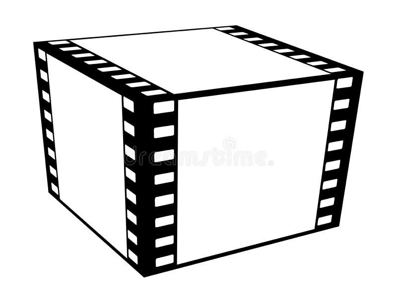 Película del cubo. stock de ilustración