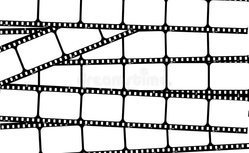A película descasca frames ilustração stock