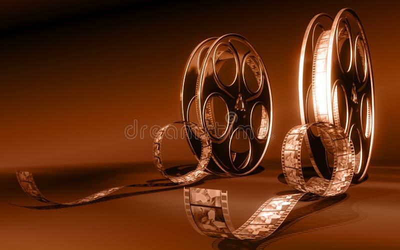 Película do cinema ilustração stock