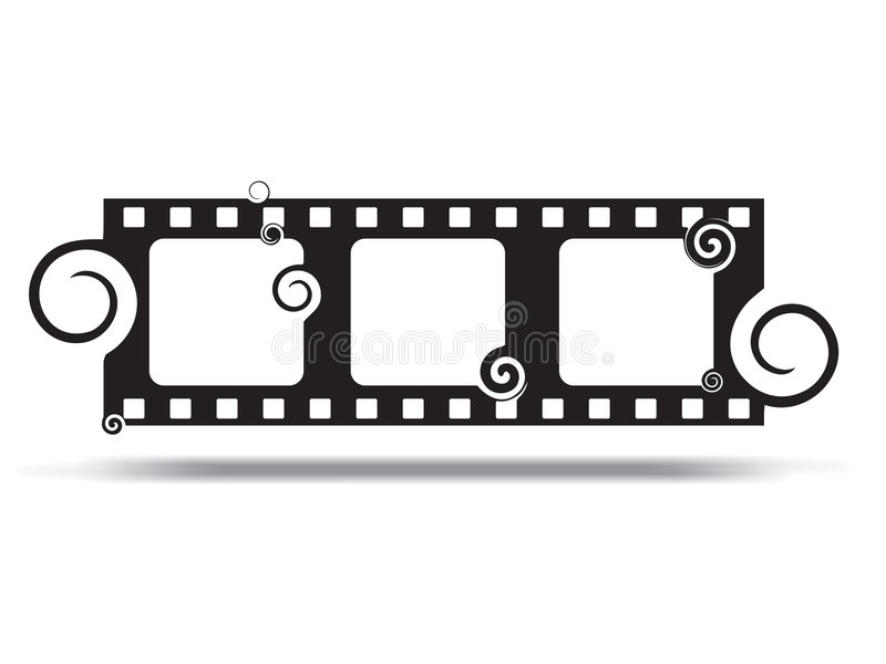 Película do redemoinho de Grunge ilustração stock