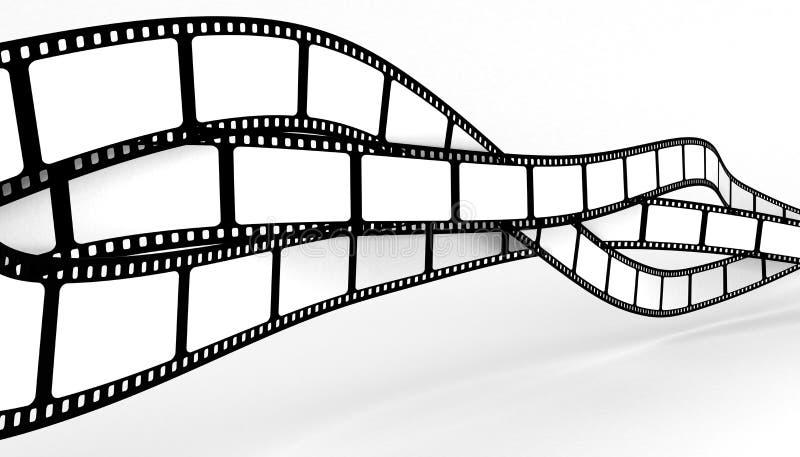 Película em branco ilustração do vetor