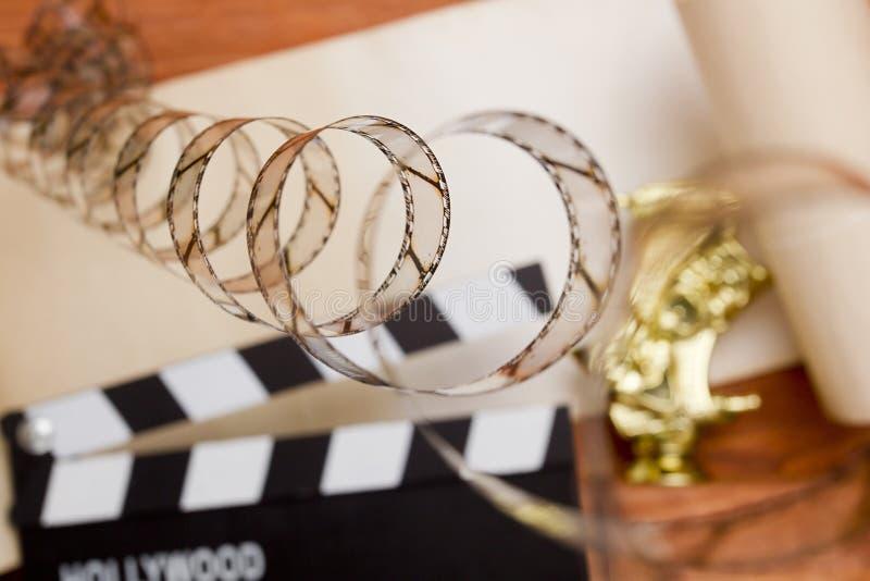 Película en el fondo de una chapaleta de la película fotos de archivo libres de regalías