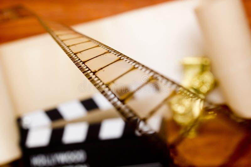 Película en el fondo de una chapaleta de la película foto de archivo libre de regalías