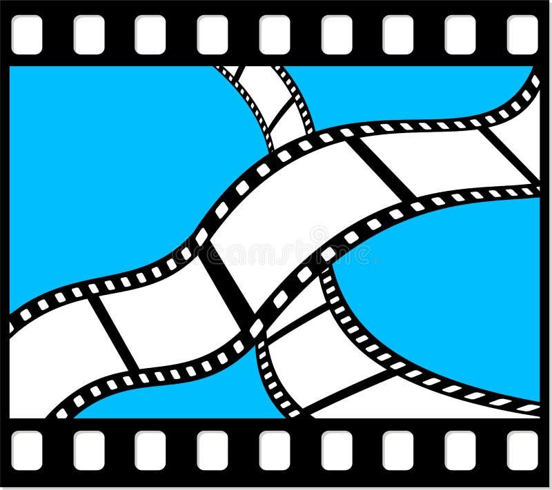Película en la película stock de ilustración