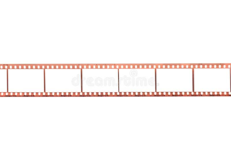 Película fotográfica com frames vazios fotografia de stock