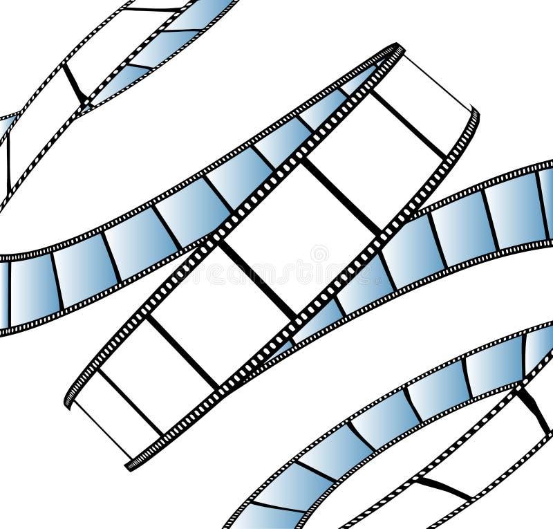 Película isolada do filme/foto ilustração do vetor