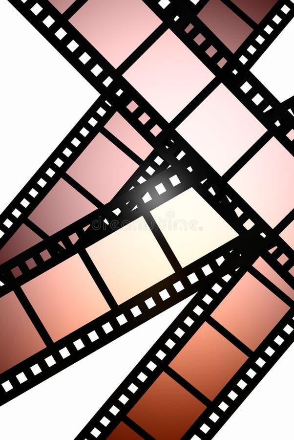 Película negativa ilustración del vector