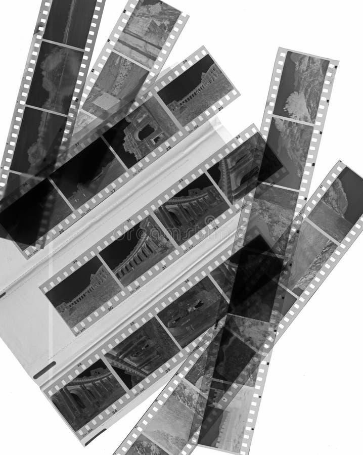 Película negativa blanco y negro fotografía de archivo