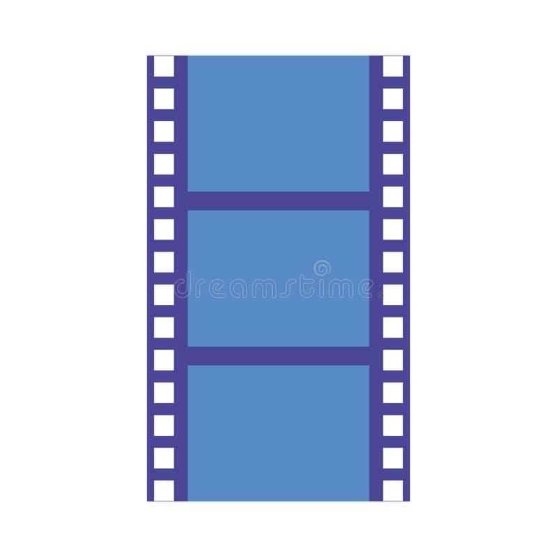 Película negativa de la producción de la tira de la película stock de ilustración