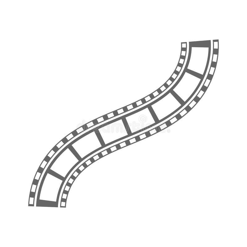 Película negativa del vector de la tira de película de los medios del vintage de la diapositiva del rollo de la tira del cine de  libre illustration