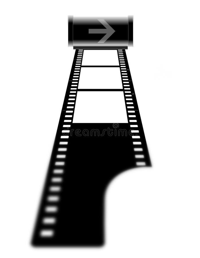 Película (quadros) com o cartucho ilustração royalty free