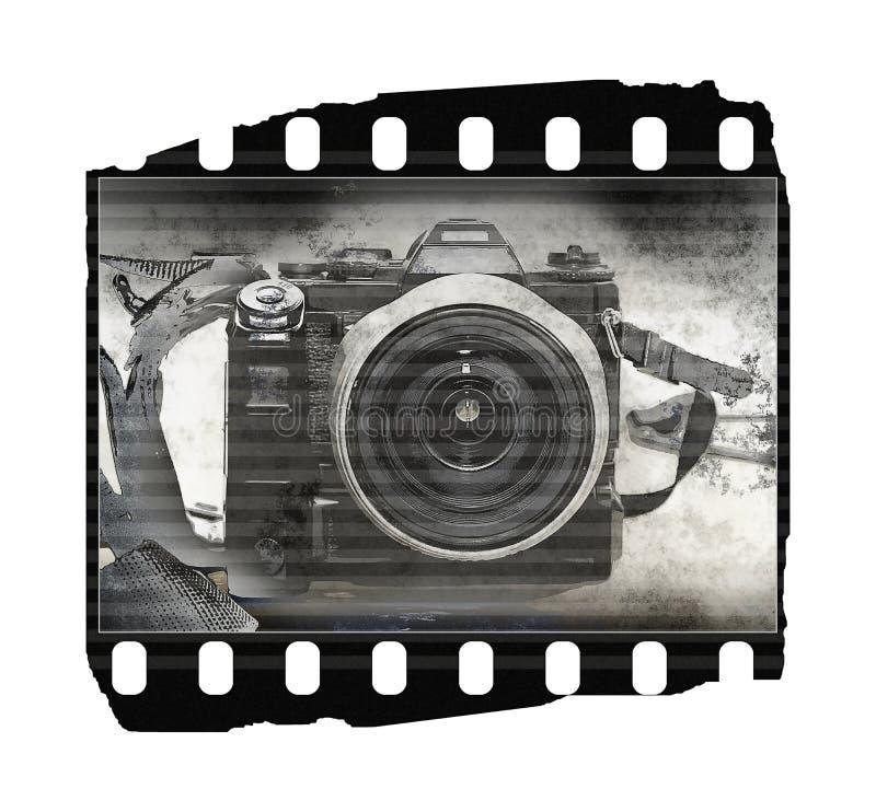 Película (textura, câmera velha) foto de stock