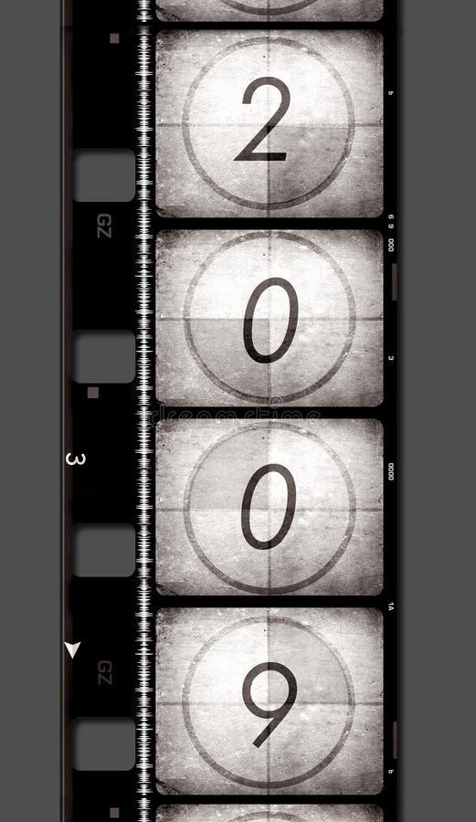 Película velha com 2009 ilustração do vetor