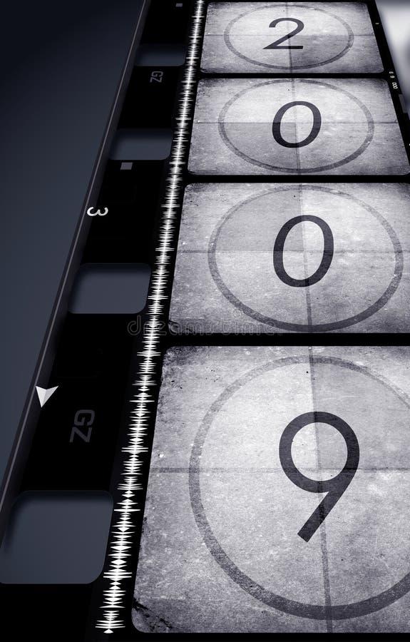 Película velha com 2009 ilustração stock