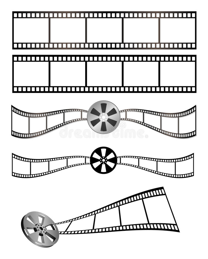 Película y carrete imagen de archivo
