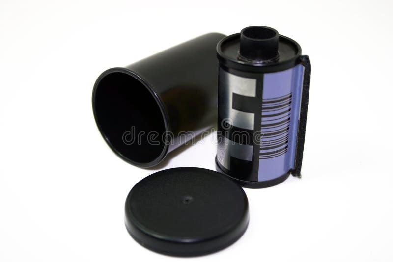 Película y envase de la cámara fotografía de archivo libre de regalías