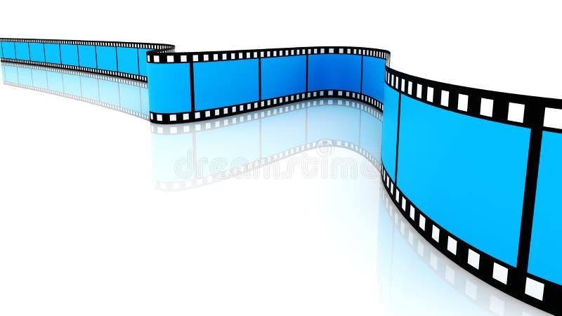 Películas 3d em branco coloridas ilustração do vetor