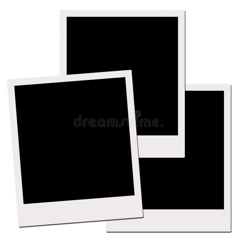 Películas do Polaroid (com trajeto de grampeamento) imagem de stock royalty free