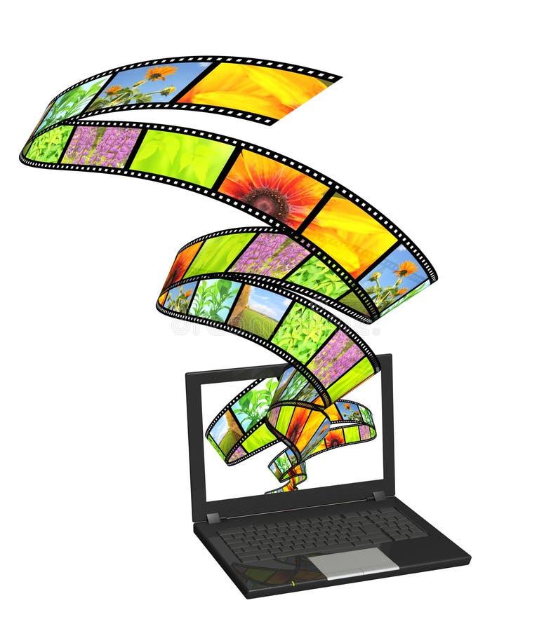 Películas en línea stock de ilustración