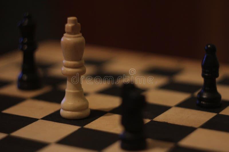 Películas frescas agradables negras blancas del zenit del ajedrez mejores viejas foto de archivo libre de regalías