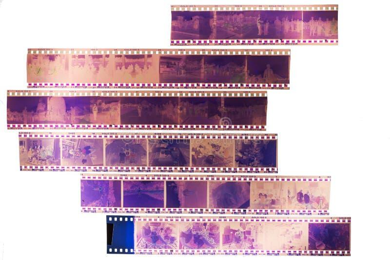 Películas viejas en el fondo ligero foto de archivo libre de regalías