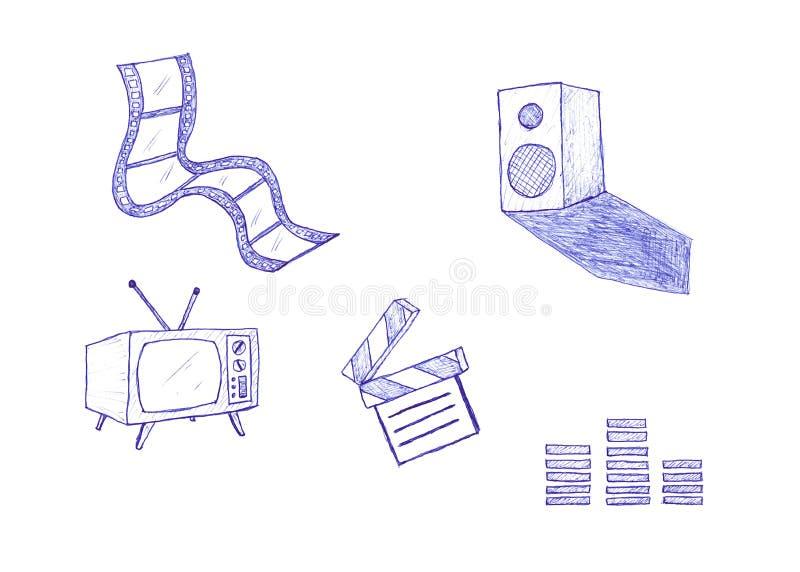 Películas y películas stock de ilustración