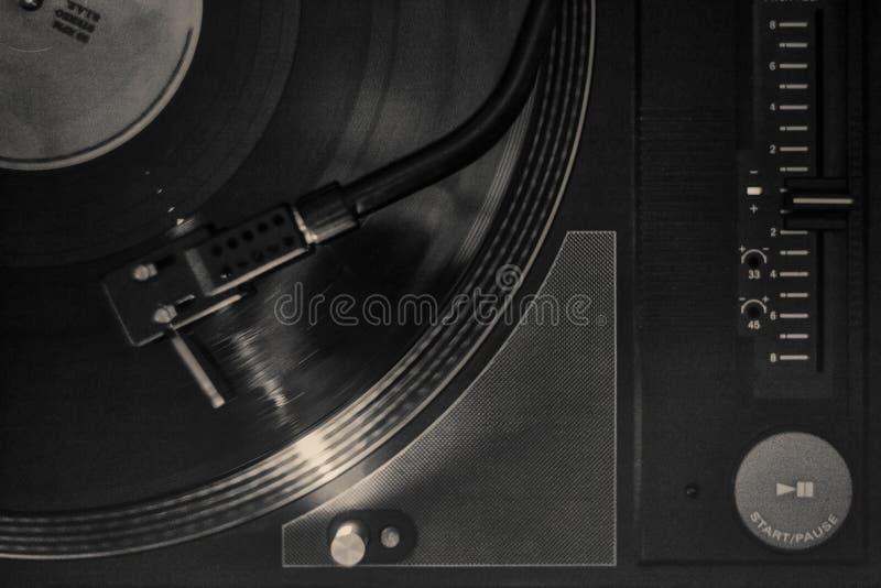 Pela plataforma giratória do DJ do Grunge foto de stock royalty free