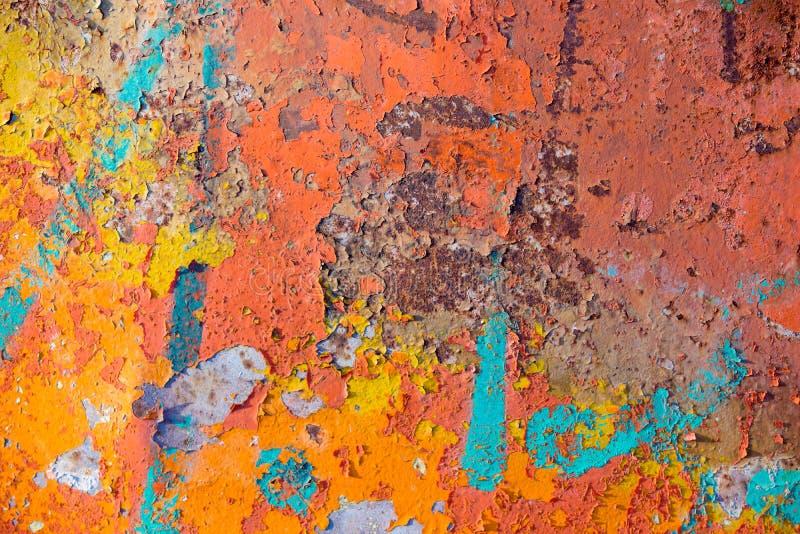 Peladura de la pintura agrietada fotos de archivo libres de regalías